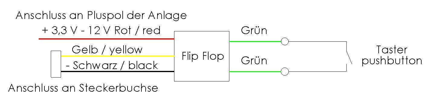 Anschlussschema Taster-Schalter Modul